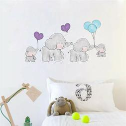 Baby Elephant With Balloon Wall Sticker Kids Bedroom Wall Vi