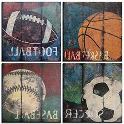 Natural art Soccer Football Sports Themed Canvas Room Baby N