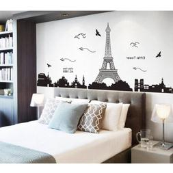 Bedroom Fashion Decor Removable Paris Eiffel Tower Art Decal
