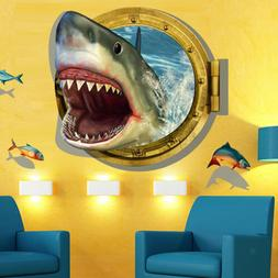 Big Shark Wall Decals Baby Nursery Kids Bedroom Stickers Art