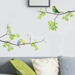 Birds Tree Wall Peel Stickers Removable Stickers Kids Bedroo
