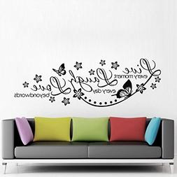 "ColorfulHall 23.6"" X 38.2"" Large Black DIY Wall Sticker Live"