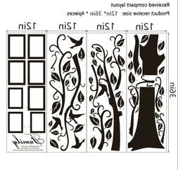 Black Family Tree Sticker Wall Decals Removable Vinyl Mural