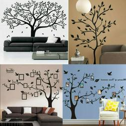 Black Family Tree Stickers Wall Decals Removable Vinyl Mural