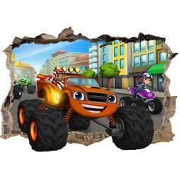 BLAZE AND THE MONSTER MACHINES SMASHED WALL STICKER - BEDROO