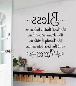 Large Bless The Food Before Us Vinyl Wall Art Decal Word Sti