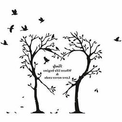 Boodecal Nature Wall Dcor Series Heart Tree Quote Decal Mura