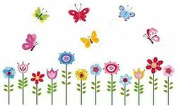 bright butterfly garden decorative peel and stick