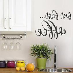 BATTOO But First Coffee Wall Decal Kitchen Decor - Coffee De
