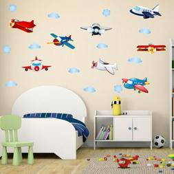 decalmile Construction Vehicles Wall Decals Truck Digger Engineering Car Wall Stickers Baby Nursery Boys Bedroom Playroom Wall Decor