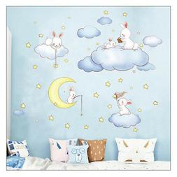 Cute! Cartoon Wall Stickers For Kids Children Rooms Baby Bed