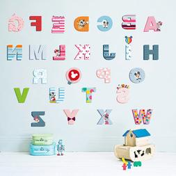 Cartoon Colorful 26 Letters alphabet <font><b>Wall</b></font
