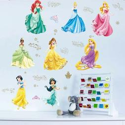 Cartoon Dancing Princess Wall Stickers For Kids Room Childre
