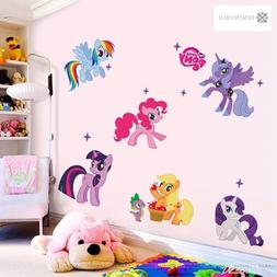 Cartoon horse family Wall Stickers for Kids Rooms Wall Decal