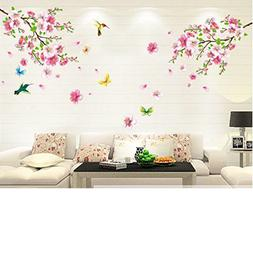 Cherry Blossom Tree  Flower Butterfly Wall Sticker Vinyl Art
