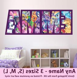 Childrens Name Wall Stickers Art Personalised My Little Pony