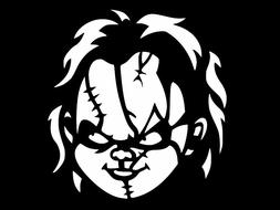CHUCKY Child's Play Horror Vinyl Decal Car Sticker Wall Truc