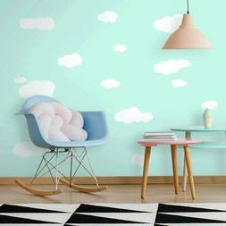 19-Piece Clouds  Peel and Stick Wall Decal