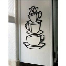 blinggo coffee cup double sided visual removable wall vinyl