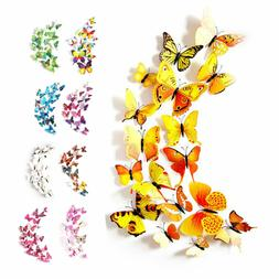Colorful 3D Butterfly Wall Sticker Simulation Magnetic Glue