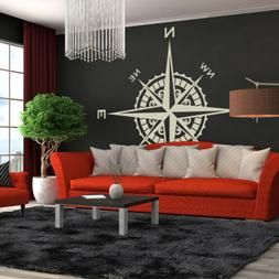 Compass Rose Vinyl Wall or Ceiling Decal nautical themed liv