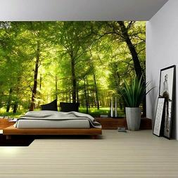 Crowded Forest Mural - Wall Mural, Removable Sticker, Home D