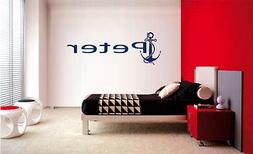 CUSTOM CHILDS NAME ANCHOR PIRATE NAUTICAL WALL DECOR WORDS D