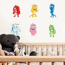 Cute Monsters Wall Sticker Full Colour Wall Decals Kids Baby