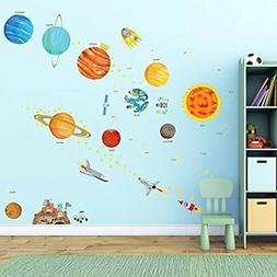 DA-1501 The Solar System Kids Wall Stickers Decals Peel Remo