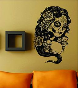 Dabbledown Decals Day of the Dead Girl Version 101 Wall Viny