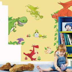 Dinosaur Dragon Wall Sticker Vinyl Decals Kids Nursery Room