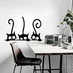 DIY Black Cats Pattern Wall Sticker Self Adhesive Decals Hom