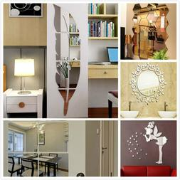 DIY Removable Home Mirror Wall Stickers Decal Art Vinyl Room