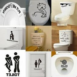 DIY Toilet Seat Wall Sticker Decals Vinyl Art Removable Bath
