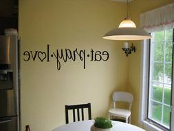 EAT PRAY LOVE  KITCHEN CAFE DINER VINYL WALL DECAL RELIGIOUS