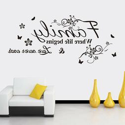 FAMILY Letter Quote Wall Stickers Home Vinyl Decal Living Ro
