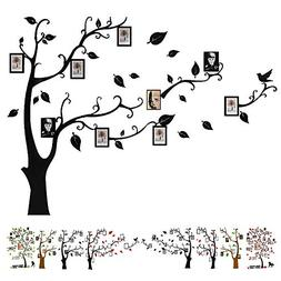 Baigio Woman Large Family Tree Wall Decals 3D DIY Photo Fram