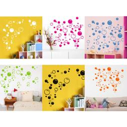 Fashion Bubbles Circle Removable Wall Stickers Bathroom Wind