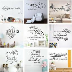 Fashion Wall Sticker Art Quote Vinyl Wall Stickers Home Deca