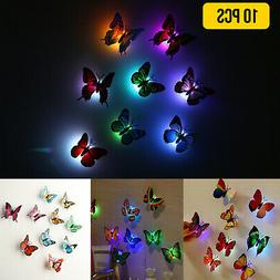 Fiber Optic Butterfly LED Color Change Night Light Lamp - Pu