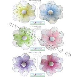 FLOWER STICKERS Wall Baby Nursery Girl Room Decor Removable