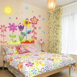 Flowers Sunshine Removable Wall Sticker Decal Wallpaper Baby