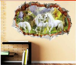 Forest Unicorn Wall Stickers For Kids Rooms Living Room Chil