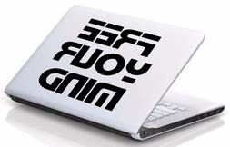 Free Your Mind vinyl decal, The Matrix, laptop skins, window