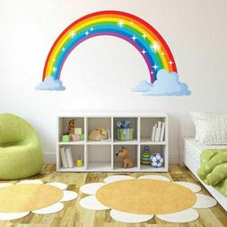 Full Colour Rainbow Wall Sticker Decal Kids Boys Girls Bedro