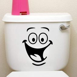 Funny Animation Big Eyes Toilet Wall Decal Home Sticker Livi