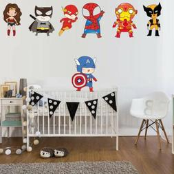 Funny Superhero Superman Wall Stickers For Kids Room Childre