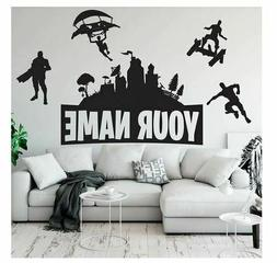 Fortnite Game Wall Sticker Decal Mural Name Art Stickers Bed
