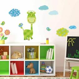 Giraffe Wall Sticker Nursery Kids Room Wallpaper Cartoon Wal