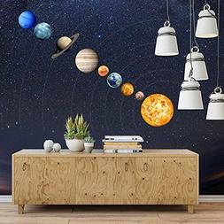 Glow in the Dark Planet Wall Stickers 9 Planets Solar System